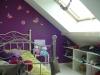 Chambre enfant combles avec rangements