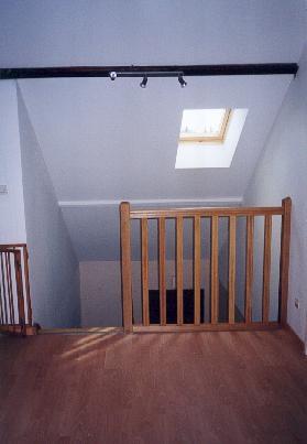 Nos r alisations mezzanine sous combles pr s d 39 angerscousin bois for Mezzanine chambre sous pente